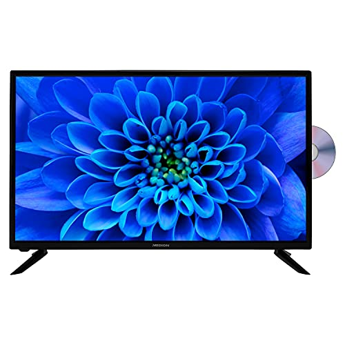 MEDION E13283 80 cm (31,5 Zoll) HD Fernseher (integrierter DVD-Player, HD Triple Tuner, DVB-T2 HD, CI+, Mediaplayer, 3 x HDMI, SCART, VGA, USB)