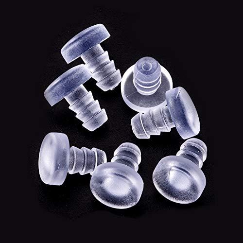 30 Stück 4,8 mm Glasplatte Tisch-Stoßfänger mit Stiel, transparente Gummigriffe, Terrassentisch-Abstandhalter, für 3/16 Zoll Loch