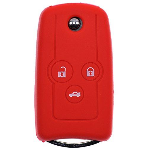 Auto Schlüssel Silikon Schutz Hülle für Honda Accord Jazz Civic CR-V/Farbe: Rot