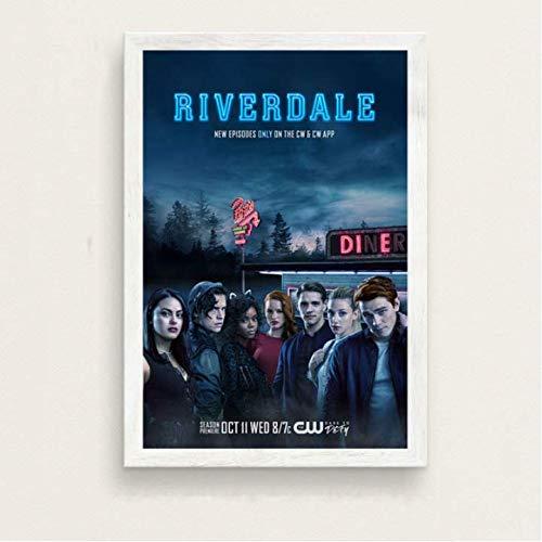 daerduotutu Regalo de película Riverdale Temporada 3 Serie de televisión Show Art Poster Lienzo Pintura de Pared para la decoración del hogar de la habitación A93 50 × 70CM Sin Marco