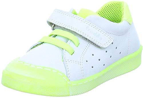 Froddo Kinder Sneaker G2130199 Halbschuh Freizeitschuh Lederschuh Kinderschuh Unisex weiß neon gelb (White Yellow)