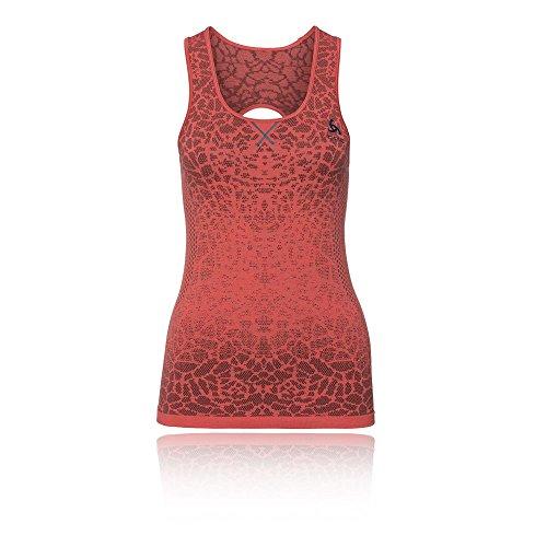 Odlo BL Top Crew Neck Singlet Blackcomb T-Shirt, Femmes L Multicolore - Corail (Dubarry/Fiery Coral)