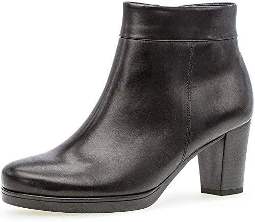 Gabor Damen Stiefelette 32.860, Frauen Kurzstiefel,Stiefel,Boot,Halbstiefel,Bootie,Reißverschluss,schwarz (Micro),35 EU / 2.5 UK