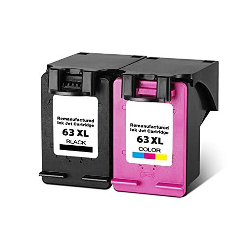 YXYX Tóner compatible para HP 63XL, repuesto para HP 2130, 3630, 1111, 4520, 4650 y 5740, cartucho de tinta láser para impresora BK, C, Y, M, orientado a la calidad