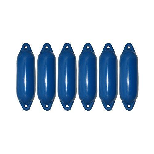 Majoni 6er-Set Star 15 Fender Bootsfender blau 45 x 12 cm