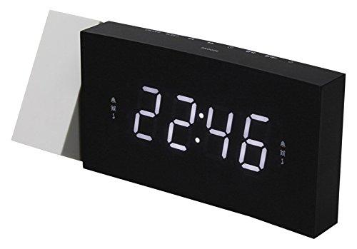 Soundmaster UR8600 Jumbo LED UKW PLL Uhrenradio Wecker mit Projektion, dimmbar