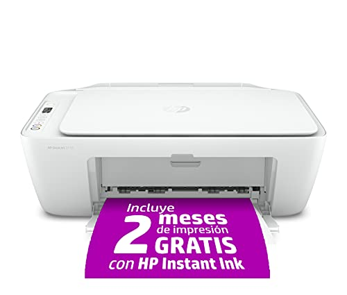 HP DeskJet 2710 - Impresora multifunción (7.5 ppm, A4, WiFi, escanea y Copia), Blanca, Medium