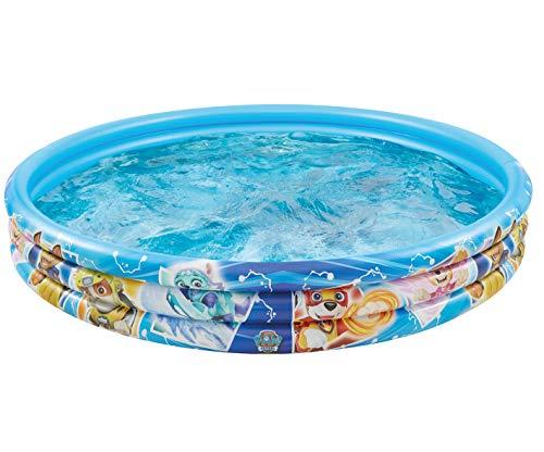 Smart Planet Planschbecken Paw Patrol aufblasbar - 150 x 25 cm - 3-Ring-Pool Fellfreunde - Kinderpool - Babypool - Schwimmbecken - Aufstellpool
