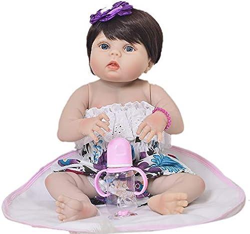 Babypuppe,Baby Geboren Puppe Lebensechte Babypuppen Reborn Babys mädchen Weiße Babypuppe 22 Zoll 5cm