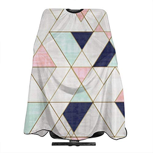 Mod triangles navy blush mint Haircut Hairdressing Cape Cloth Apron Hair Styling Hairdresser Cape Barber Salon