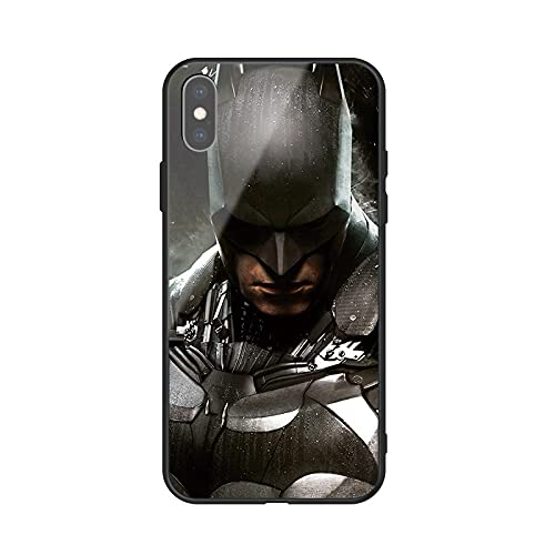 Batman Super Hero Phone Case Shockproof and Anti-Scratch Manga TPU Tempered Glass Soft Silicone Phone Case Cover Shell for iPhone 6 6S 7 8 Plus X XR XS MAX 11 13 Pro MAX SE 2020 Back Covers