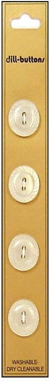 security Dill Buttons 15mm 4pc Portland Mall White 2 Hole