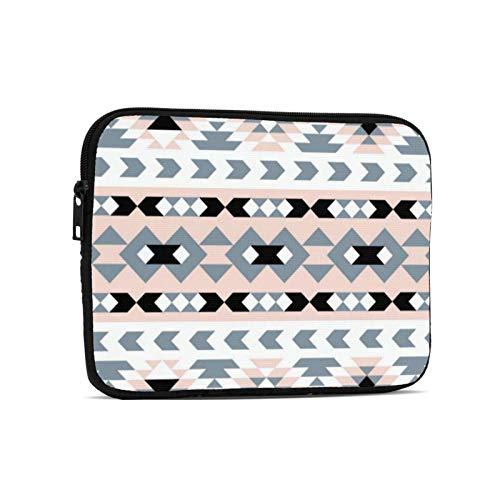 Mod Southwest Geometric Blush And Black Laptop Case Protective Sleeve Bag Briefcase Work Business Slim Tablet Handbag for 9.7 inch Notebook Tablet