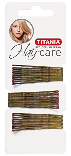 Titania Pinces pour Cheveux Doré, droite, 7 cm, Pack de 1 (1 x 41 g)