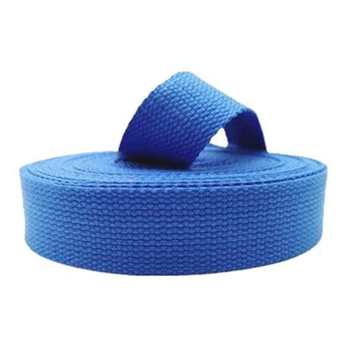 DTKJ 10 yardas 25mm/38mm poliéster algodón lona cinturón correas mochila accesorios bolsa hacer costura DIY artesanía, Blue, 38 mm,
