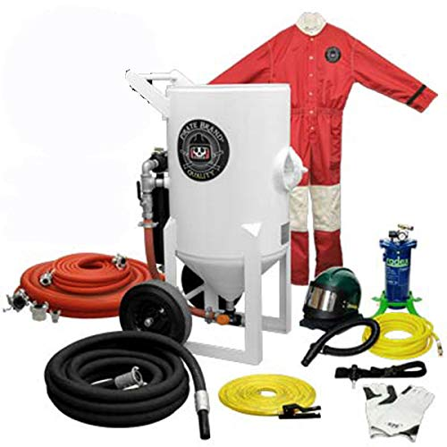Cheapest Prices! Sandblasting Machine Gold Package, Portable, 6.5 Cu. Ft. (185 Liters), Pressure Rel...