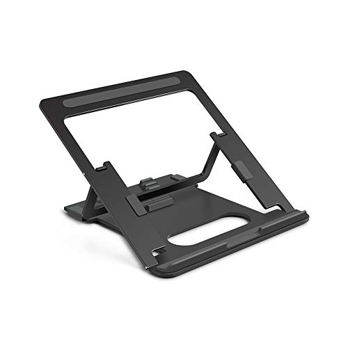 Aluminum Alloy Portable Computer Tablet Stand, Lifting Folding Heat Dissipation Storage Adjustable Bracket, Compatible All Tablets Phones Creative Multifunction,A
