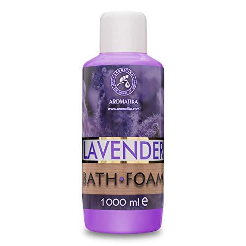 Badeschaum mit Ätherischem Lavendelöl 1000 ml - Guter Schlaf - Schönheit - Baden - Körperpflege - Wellness - Entspannung - Aromatherapie - SPA - Lavendel Aroma - Schaumbäder
