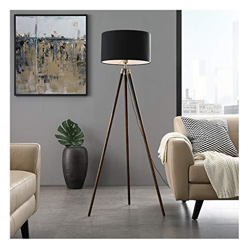 Lampe sur pied Lámpara de pie LED soporte de madera sólida de tres patas Vertical Vertical moderna simple lámpara de mesa de la sala dormitorio lámpara de cabecera de la lámpara de lectura Estudio,La