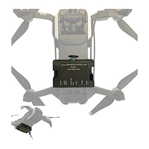 Release and Drop Professional Device for DJI Mavic AIR 1 – Drone Fishing, Bait Release, Load Delivery, Search and Rescue and Fun – U.S. Patent - by DRONE SKY HOOK