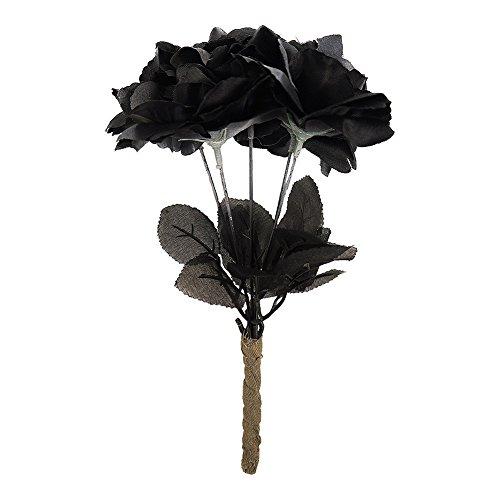 ramo de novia negro con rosas