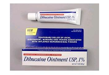 Dibucaine Ointment 1% USP,Anesthetic Hemorrhoids Ointment - 1 Oz