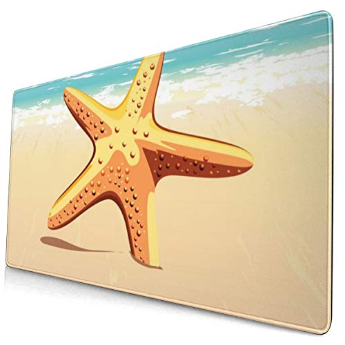 Starfish In The Sand 40 X 75 Cmgaming Mouse Mat Suitable For Games, Office Working