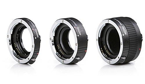Movo mt-c683piezas AF cromado tubo de extensión macro Set para Canon EOS DSLR cámara con 12mm, 20mm, 36mm) tubos