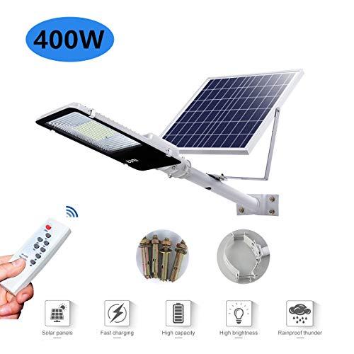 Lampadaire solaire à LED 50W-1200W Projecteur d'extérieur Lampe de sécurité haute luminosité Avec télécommande IP65 étanche Lampe d'ingénierie Convient pour le patio, l'éclairage routier,400w