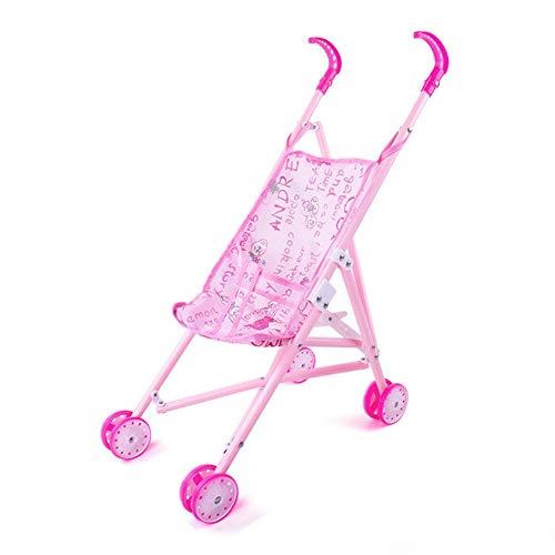 Carrito de muñecas para niños, Juego de viaje de muñecas, Carro de juguete Muñeca Bebé Juego de carrito de juguete para la casa de juguete, Carro de juguete para muñecas con ropa intercambiable para u