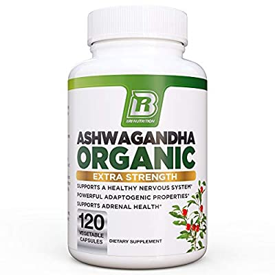 BRI Nutrition Ashwagandha - 1000mg Pure Ashwagandha Root Powder - 2 Veggie Capsules Per Serving