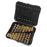 """230 Pieces Titanium Drill Bit Set - Titanium Metal Drill Bits for Steel, Wood, Plastic, Copper, Aluminum Alloy with Storage Case, 3/64""""-1/2"""""""