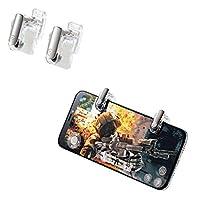エレコム 荒野行動 PUBGMobile スマホ用ゲームコントローラー 射撃ボタン 2ボタン分離型 4.0~6.5インチ iPhone/Android...
