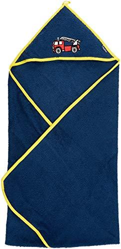 Playshoes Frottee-Kapuzentuch Feuerwehr Kleidungsstück, Blau (Marine 11, 100x100cm Jungen