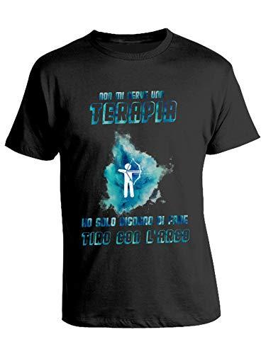 bubbleshirt Tshirt Tiro con L'Arco - Non Mi Serve Una Terapia - Ho Solo Bisogno di Fare Tiro con L'Arco - Esplosione - Idea Regalo