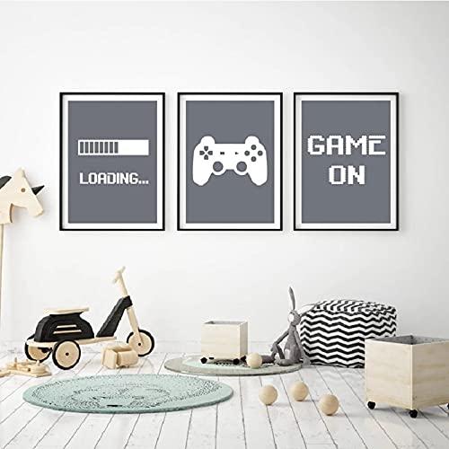 Carteles e impresiones minimalistas de pintura de lona para videojuegos, decoración de habitación de niños, videojuegos, arte de pared para decoración de jugadores, 30 x 42 cm, 30 x 42 cm, sin marco