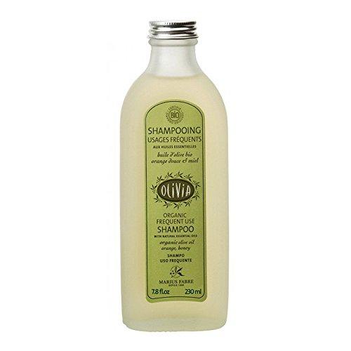 Olivia - Marius Fabre - Shampooing Usages Fréquents - Huile d'Olive bio Orange Douce et Miel