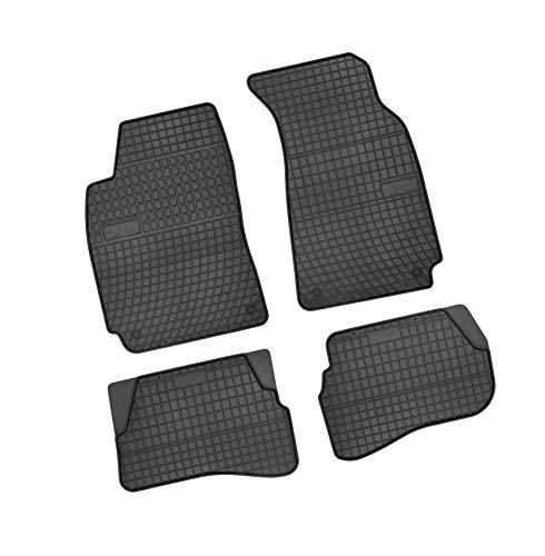 Bär-AfC VW04241 Gummimatten Auto Fußmatten Schwarz, Erhöhter Rand, Set 4-teilig, Passgenau für Modell Siehe Details