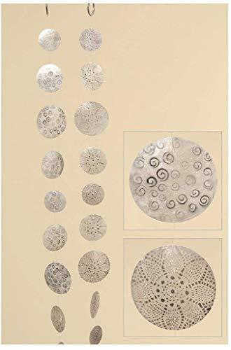 Boltze Hänger, Girlande Capiz in weiß/Silber aus Perlmutt, sortierte Ausführungen, 1 Stück, Länge ca. 180 cm