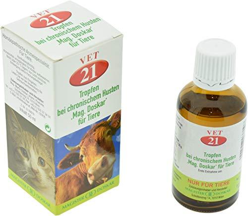 DOSKAR für Tiere Nr. 21 - Homöopathische Tropfen bei chronischem Husten, 50 ml