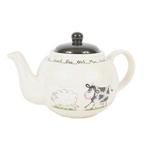 Price and Kensington Home Farm 6 Cup Teapot, Ceramic, Multi-Colour, 23.2 x 14.4 x 14.8 cm