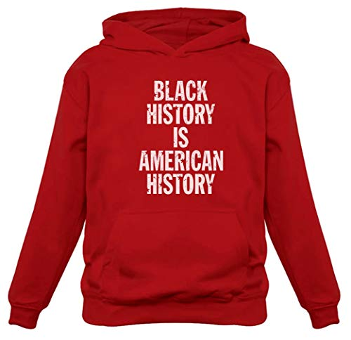 Moletom com capuz feminino Black History Is American History Freedom, Vermelho, XL
