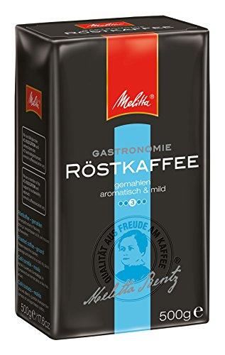 Melitta Gemahlener Filterkaffee, Mild mit schokoladiger Note, Mittlerer Röstgrad, 6 x 500 g