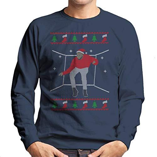 Cloud City 7 Hotline Bling Santa Drake Dancing Christmas Knit Pattern Men's Sweatshirt