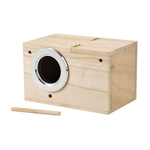 Bird Nest Box, Parakeet Mating Box, Wood Breeding Nest, Bird...