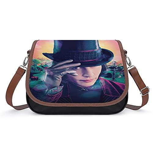 Charlie and the Chocolate Factory Damen Vintage Taschen Handtasche Retro Schultertasche Unterarmtasche