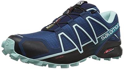Salomon Women's Speedcross-4 W Trail Running Shoes, Blue (Poseidon/Eggshell Blue/Black), 7.5 UK