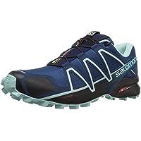 Salomon Speedcross 4 W, Zapatillas de Trail Running para Mujer, Azul (Poseidon/Eggshell Blue/Black), 37 1/3 EU