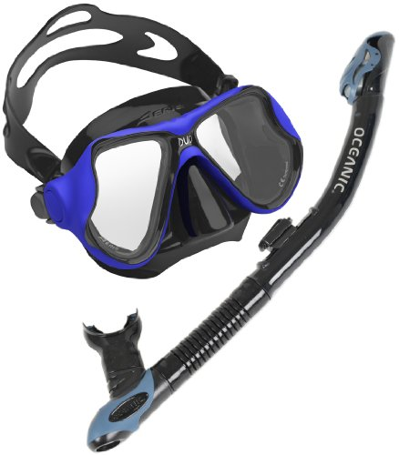 Oceanic Ultradry Snorkel and Aeris Duo Mask Snorkel Set, BK-BL