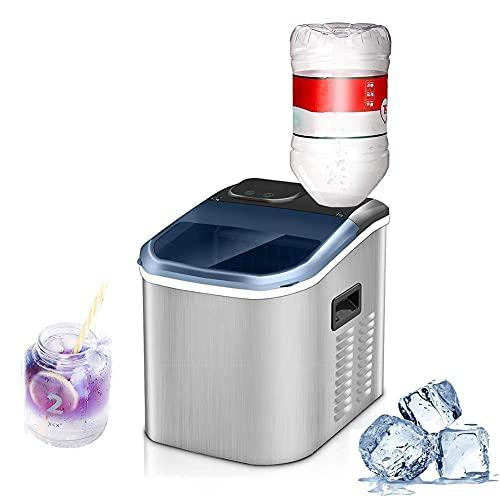 Ice Maker Automatisk Vattenintag, Bärbar Rostfri Bänkskiva Gör Elektrisk Ismaskin